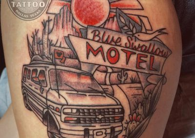 dallas-tattoo-neotraditional-van-roadtrip