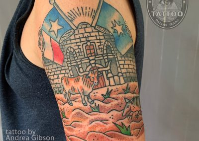 dallas-tattoo-traditional-texas-longhorn
