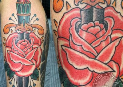 dallas-tattoo-traditional-rose-dagger