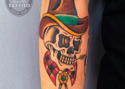 dallas-tattoo-traditional-skull-cowboy