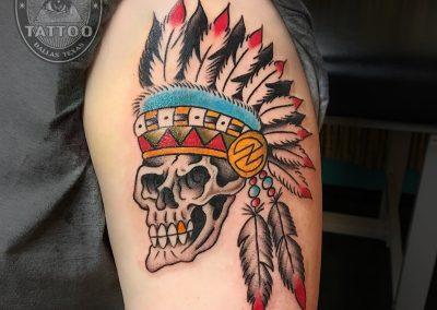 dallas-tattoo-traditional-skull-headress