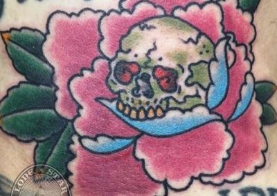 dallas-tattoo-traditional-skull-peony