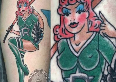 dallas-traditional-tattoo-hockey-pinup
