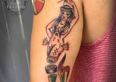 dallas-traditional-tattoo-mermaid-sushi