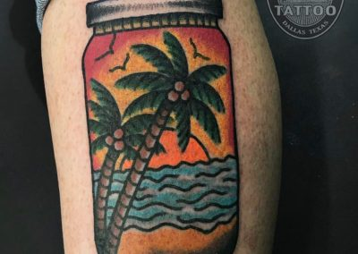 dallas-traditional-tattoo-tropical-palmtrees