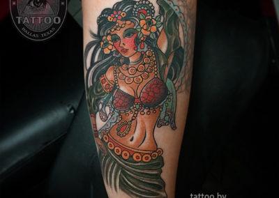dallas-traditional-tattoo-gypsy-lady
