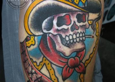 dallas-traditional-tattoo-cowboy-skull